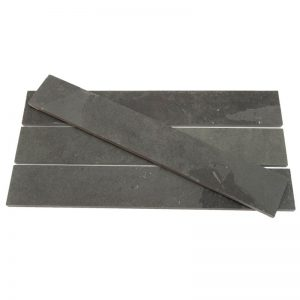 Black Brazilian Riven Slate Strips