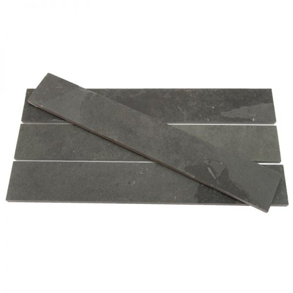 Black Brazilian Riven Slate Strips