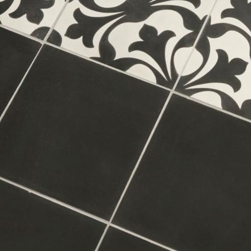 Charcoal Encaustic Tiles