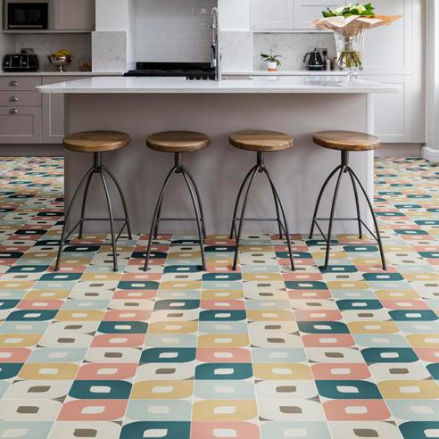 Eye Multi-colour Encaustic Tiles
