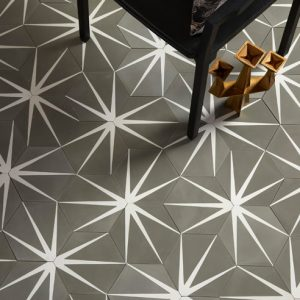 Lilypad Hex Clay Encaustic Tiles