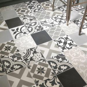 Patchwork Grey Encaustic Tiles