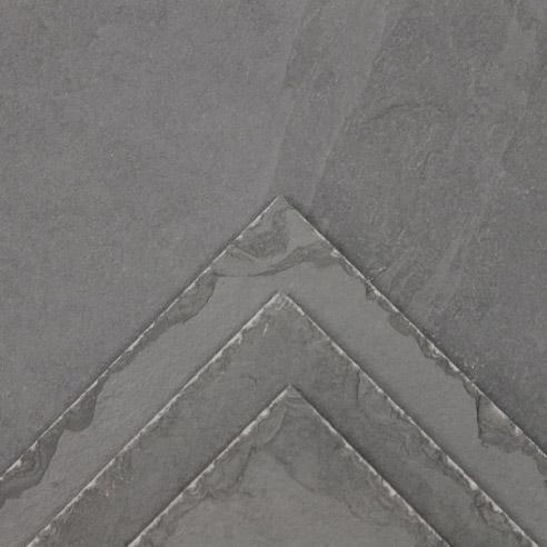 Grey Brazilian Chiseled Edge Slate