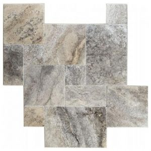 Silver Brushed & Chipped Travertine