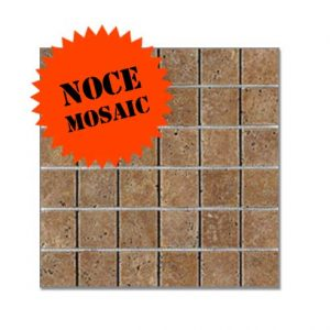 Siva Noce Tumbled Travertine Mosaic