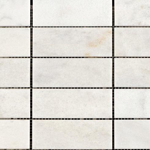 Carrara White Polished Marble Mosaic