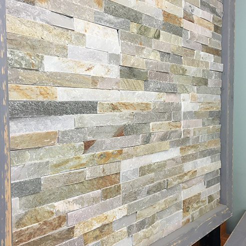 Oyster Mini Stepped 3D Slate Cladding Panel