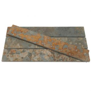 Multicolour Brazilian Riven Slate Strips
