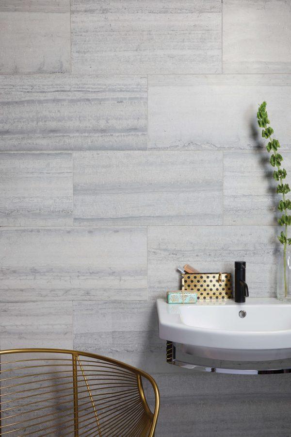 Baobab Honed Limestone Silver Blue Bathroom Wall Tiles