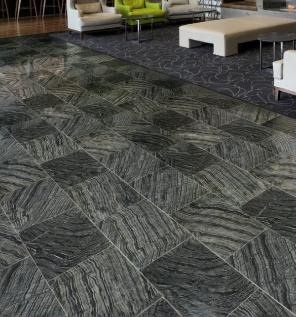 Baobab Limestone Ebony Honed Finish Waiting Area Tiles