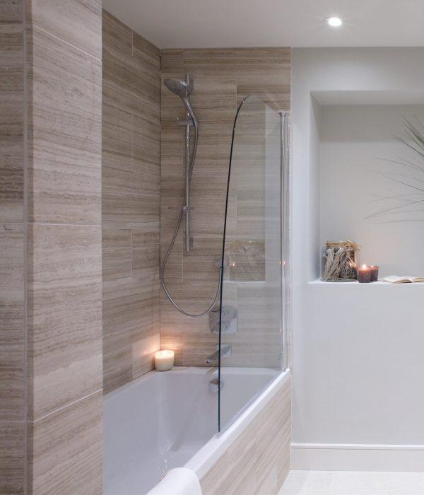 Baobab Limestone Papyrus Honed Finish Bathroom enclosure