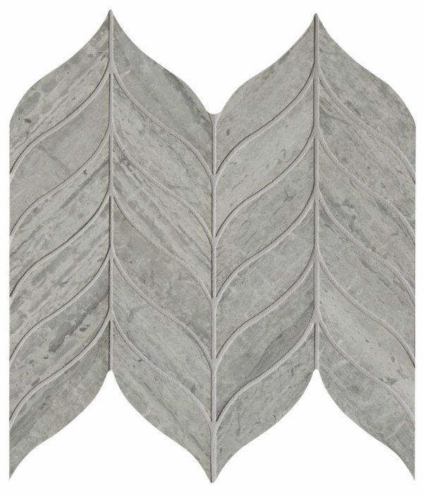 Baobab Silver Blue Leaf Limestone Mosaic Close Up