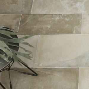 Beaulieu Limestone Velvet Finish with a decorative plant