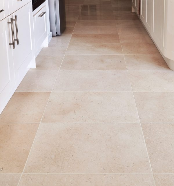 Bergamo Limestone Honed Finish Close Up