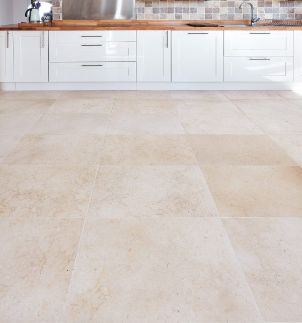 Bergamo Limestone Honed Finish Kitchen Floor Tiles