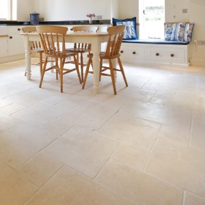 Bergamo Limestone Tumbled Finish Kitchen Tiles