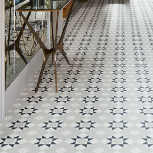 Brompton Borough Porcelain In Stylish Hallway