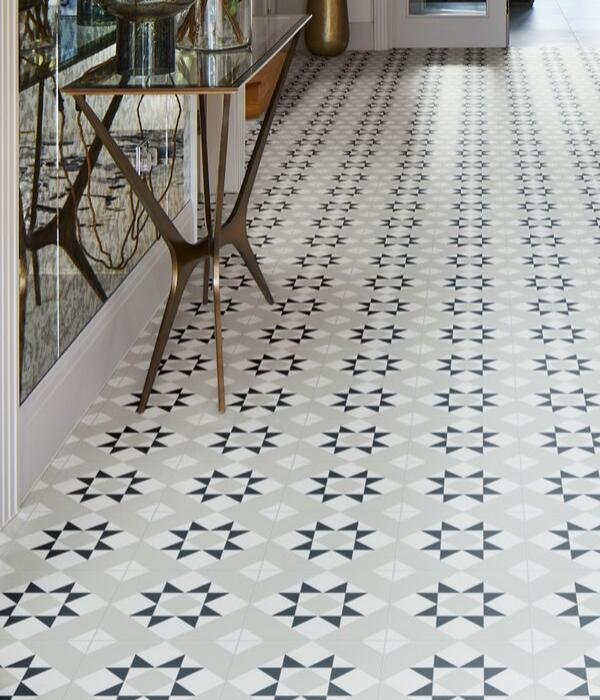 Brompton Borough Porcelain In Stylish Hallway