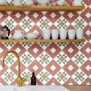 Brompton Clarence Porcelain In a retro kitchen