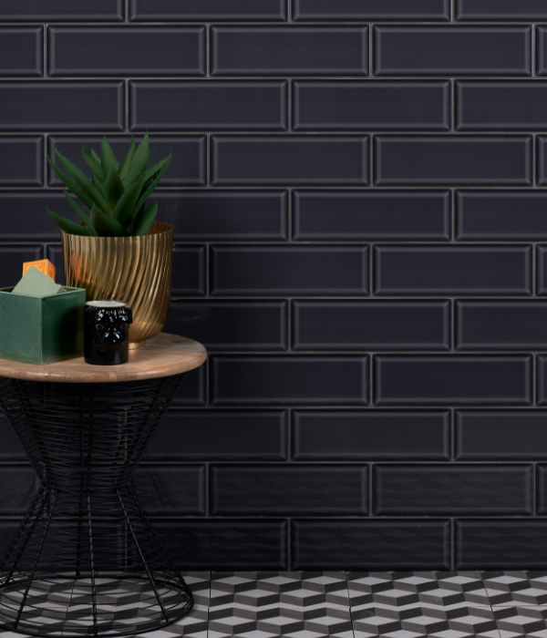 Camden Ceramic Liquorice Dark Wall Tiles