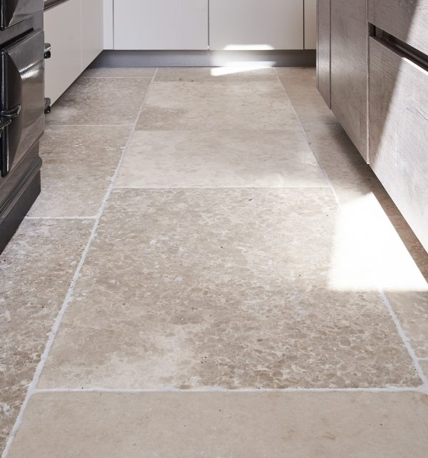 Carnaby Tumbled Limestone throughout the kitchen