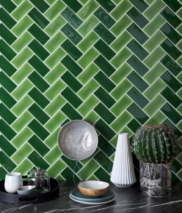 Colour Pop Ceramic Chevron Style Pattern