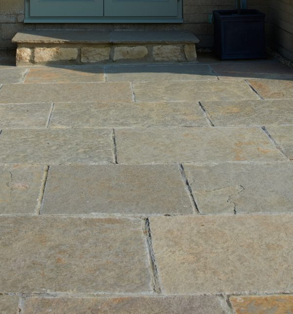 Farley Limestone Worn Finish tiled paving