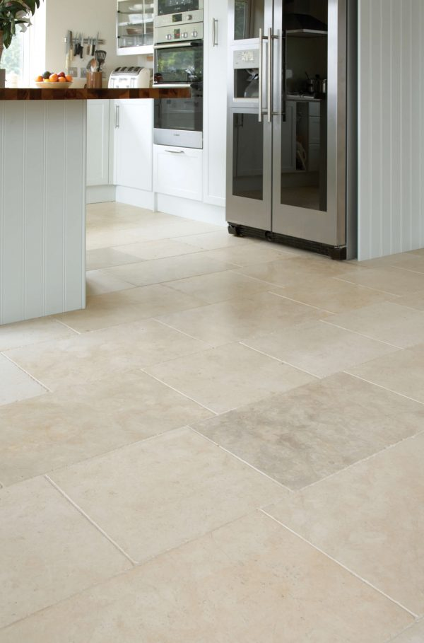 Fontaine Limestone Tumbled Finish hallway tiles