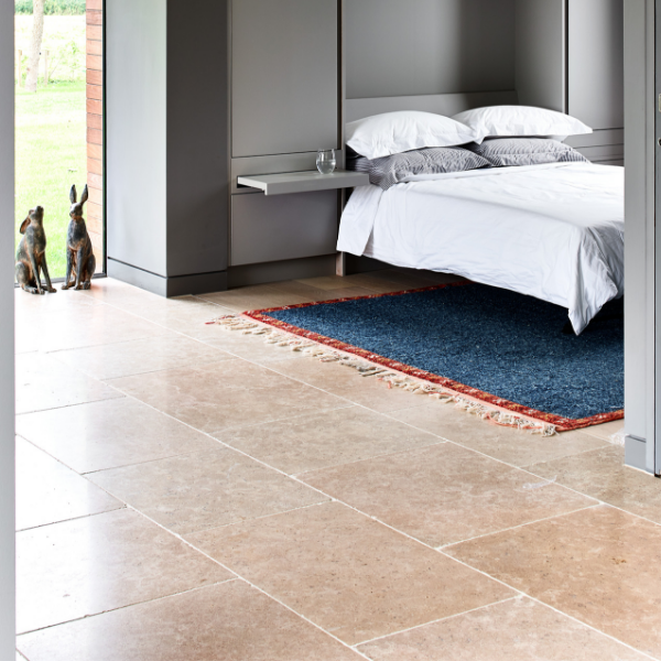 Hamlet Limestone Tumbled Finish Bedroom flooring