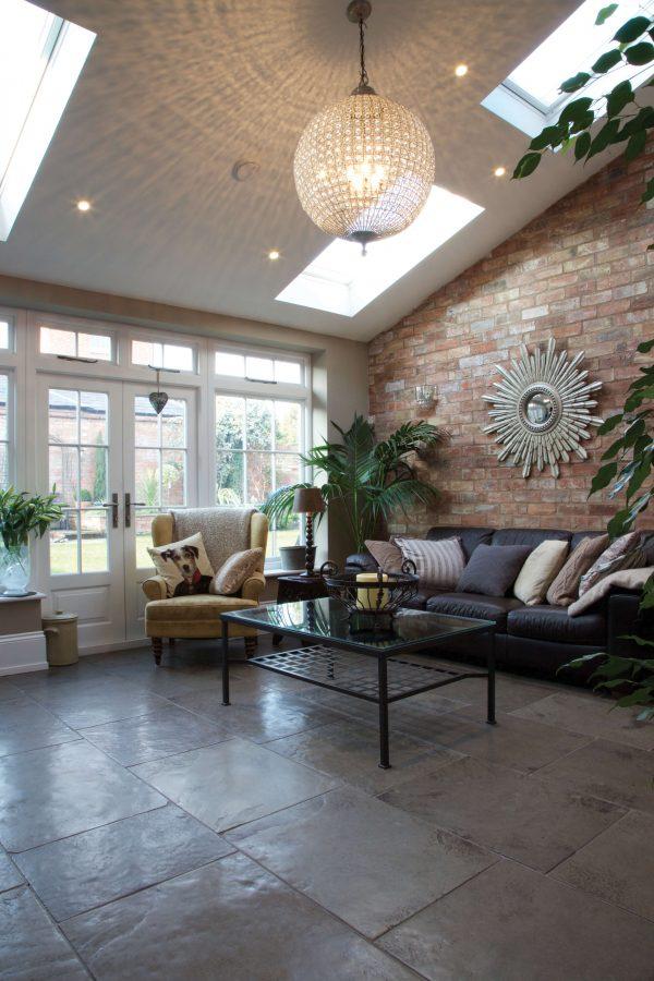 Huntingdon Limestone Worn Finish Conservatory Flooring