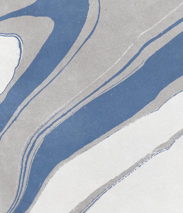 Inker Porcelain Blue Close Up