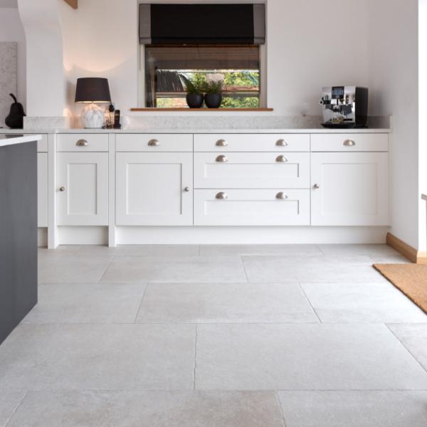 Jurassic Porcelain Grigio Throughout a modern kitchen