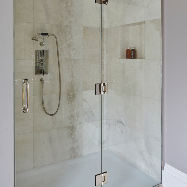Linara Marble Honed Finish shower enclosure