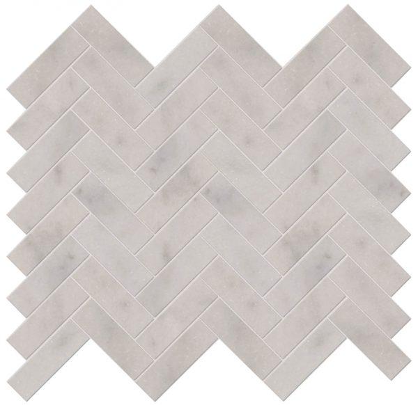 Long Island Marble Herringbone Mosaic Close Up