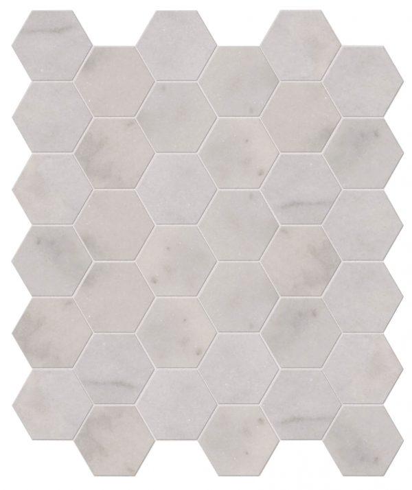 Long Island Marble Hexagon Mosaic Close Up