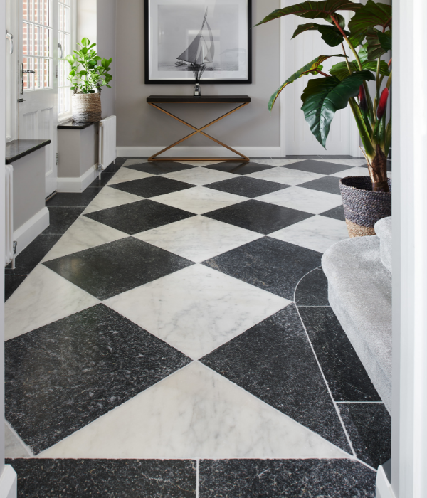 Long Island Marble Tumbled Finish in a reception hall