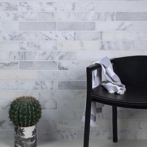 Long Island Tumbled Marble Brick Modern Wall Tiling