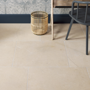 Maldon Limestone Tumbled Finish in a study