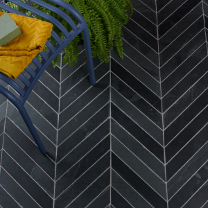 Metropolitan Slate Chevron Riven Finish Birds Eye View