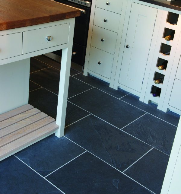 Metropolitan Slate Riven Finish kitchen floor tiling