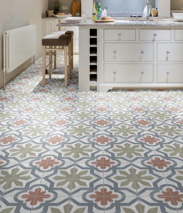 Modella Taralli Porcelain Floral Kitchen Tiles