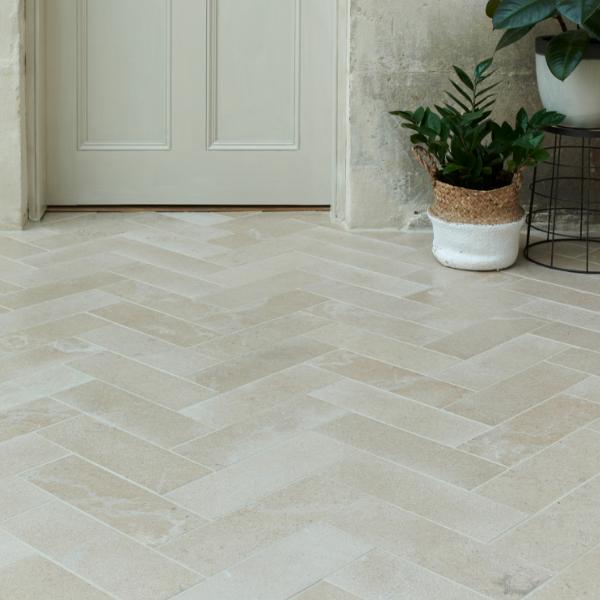 Neranjo Limestone Brick Velvet Finish Reception Hall Tiles