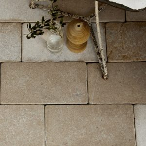 Neranjo Limestone Cobble Tumbled & Etched Finish birds eye view