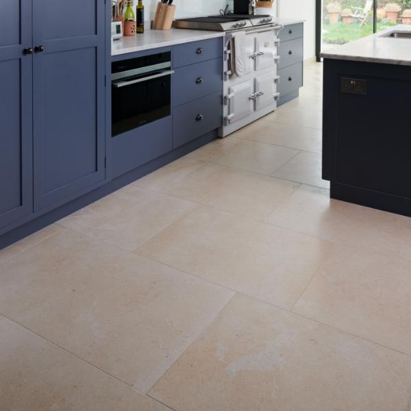 Neranjo Limestone Velvet Finish in a kitchen surrounding