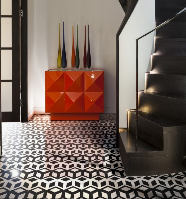New York Marble Mosaic In a retro themed home