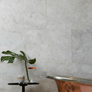 Nordic Marble Honed Finish in a modern bathroom