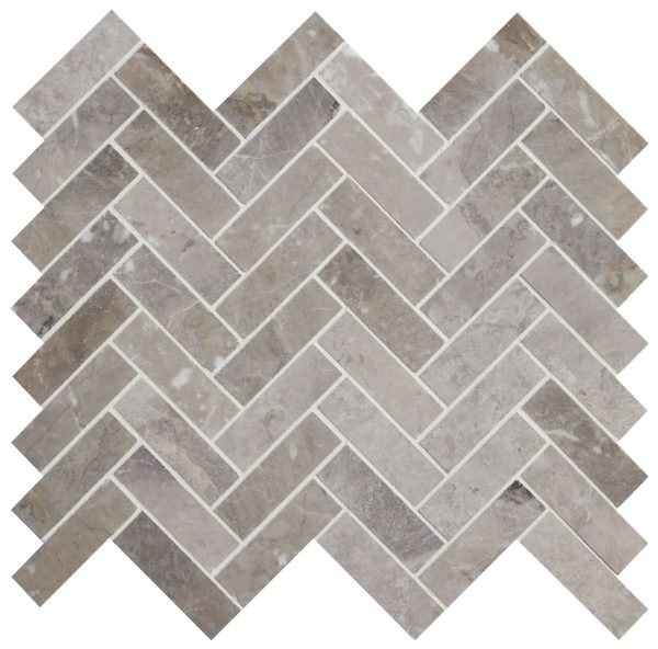 Palladio Marble Herringbone Mosaic Close Up