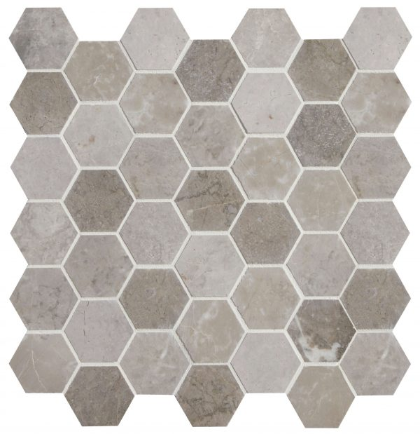 Palladio Marble Hexagon Mosaic Close Up