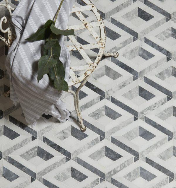 Paris Marble Mosaic Birds Eye View