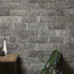 Rockface Brick Zuber Limestone Feature Wall